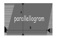 Oppervlakte berekenen - parallellogram